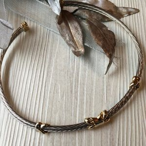 Jewelry - Choker in silver braid look with gold accents NWOT